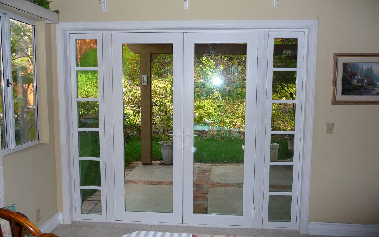 Exterior Single French Doors french patio doors with sidelites gallery - french door garage