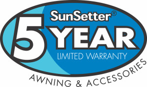 5 year warranty retractable awnings abc windows and more toledo ohio sunsetter retractable awnings